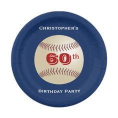 Baseball Paper Plates 60th Birthday Party Paper Plate  sc 1 st  Pinterest : diamond paper plates - pezcame.com