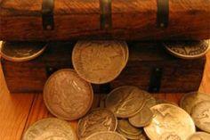 Treasure Chest of Genuine Silver U.S. Coins Pirate Coins, Us Coins, Treasure Chest, Silver, Money