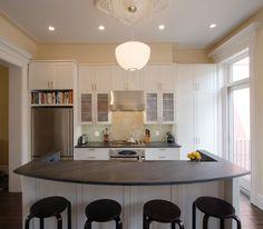 Greenwood Heights Townhouse « Ben Herzog Architect, PC | George Nelson Apple Pendant Lamp | http://modernica.net/apple-lamp.html