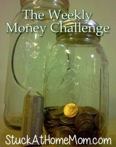 The Weekly Money Challenge [easy money saving] - StuckAtHomeMom.com