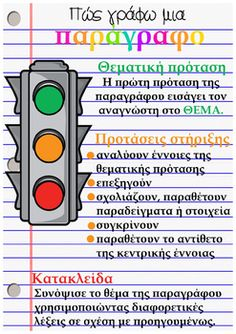 Poster για δομή της παραγράφου Greek Language, Speech And Language, Preschool Education, Elementary Education, Writing Resources, Writing Activities, Learn Greek, Grammar Exercises, Teacher Boards
