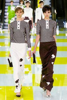 Marc Jacobs has me into checks & long skirts (Louis Vuitton Spring 2013)