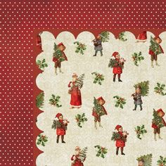 My Mind's Eye - Vintage Christmas Collection - 12 x 12 Double Sided Paper - Tree Trimmer at Scrapbook.com