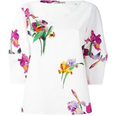 Etro Floral Print Blouse ($550) ❤ liked on Polyvore featuring tops, blouses, floral print blouse, floral blouse, etro tops, etro and etro blouse
