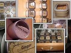 spice organization combine with cookie sheet in board and hang on cabinet door