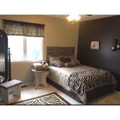 Zebra bedroom!