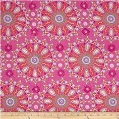 Dena Designs Home Décor Sunshine Circle Medallion Pink
