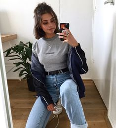 pin: b e l l e The post pin: b e l l e appeared first on Kleidung ideen. pin: b e l l e The post pin: b e l l e appeared first on Kleidung ideen. Grunge Outfits, Mode Outfits, Grunge Fashion, Jean Outfits, Trendy Outfits, Girl Fashion, Fashion Outfits, Outfits With Short Hair, School Outfits