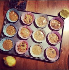 Super skinny 100 calorie muffins in the making! Recipe on blog...