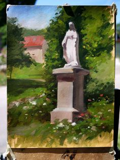 Acrylics, Impressionist, Pastels, Landscape Paintings, Fountain, Catholic, Watercolor, Fine Art, Amazing