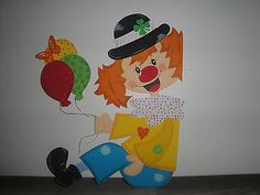 Tonkarton Fensterbild  ~ Clown Rudi Fenstergucker ~ Karneval Fasching