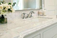 Which Granite looks like White Carrara Marble? - Bathroom Granite - Ideas of Bathroom Granite - Cambria quartz bathroom countertop looks like Carrara marble color Torquay; (it's like caesarstone or Silestone) Marble Countertops, Kitchen Countertops, Kitchen Backsplash, Quartz Countertops Colors, Slate Backsplash, Kitchen Cabinets, Beadboard Backsplash, Backsplash Ideas, Kitchen Redo