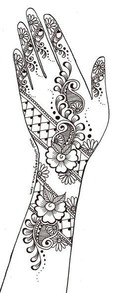 dover coloring books Henna Hand Designs, Mehndi Designs Book, Indian Mehndi Designs, Mehndi Designs For Beginners, Mehndi Images, Henna Tattoo Designs, Arte Mehndi, Henna Paint, Henna Stencils