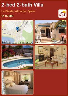 2-bed 2-bath Villa in La Siesta, Alicante, Spain ►€145,000 #PropertyForSaleInSpain