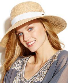19bc5950c933a Nine West Raffia Down Brim Hat   Reviews - Handbags   Accessories - Macy s