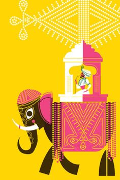 The Maharjah and Me by Sanjay Patel via asianart.com #Illustration #Sanjay_Patel #asianart