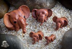 Sabo wood pet elephant plugs - too cute! Who doesn't love elephants?