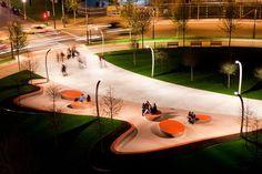 Plaza Euskadi, by Balmori Associates and Lantec, in Bilbao, Spain.