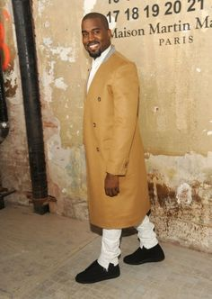Kanye West wearing sneakers Maison Martin Margiela