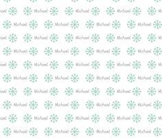 My Snowflakes- seafoam gray fabric by drapestudio on Spoonflower - custom fabric