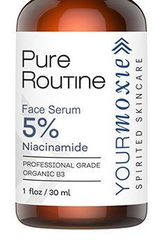Niacinamide B3 Skin Serum 5  Natural and Organic daily face serum pore reducer and Collagen Booster  Anti Aging and Reduce Wrinkles and facial skin lightener for Younger Glowing Skin >>> See this great product. #OrganicSkinCare