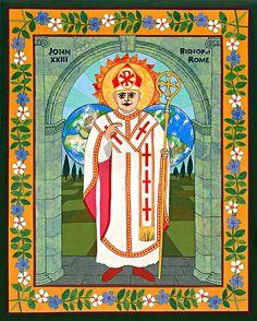 Pope John XXIII by David Raber #NLsaints