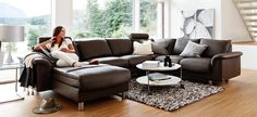 Stressless E300 2 Seater Sofa | Modern Recliner Leather Sofa