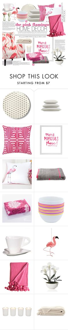 """""""the pink flamingo home decor"""" by punnky-interiors ❤ liked on Polyvore featuring interior, interiors, interior design, home, home decor, interior decorating, Kate Spade, Trina Turk, KAS and PEONY"""