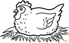 Print Chicken Coloring Page coloring page & book. Your own Chicken Coloring Page printable coloring page. With over 4000 coloring pages including Chicken Coloring Page . Chicken Coloring Pages, Printable Flower Coloring Pages, Farm Animal Coloring Pages, Online Coloring Pages, Coloring Book Art, Cartoon Coloring Pages, Coloring Pages To Print, Adult Coloring Pages, Free Coloring