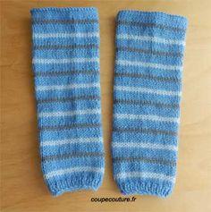 Jambieres pour bébé, patron gratuit Free Knitting, Baby Knitting, Knitting Patterns, Iris Folding, Lany, Leg Warmers, Socks, Accessories, Caramel