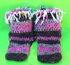 "Socks, 7"" Tall Crew Height Short, Crew Height Socks, Warm Winter Socks, Handmade Socks, Chunky Socks, Bohemian Fashion, Slouchy Socks, Funky"