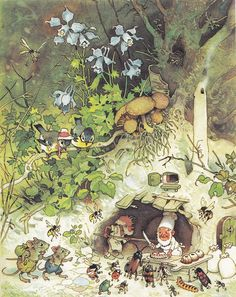The faeries, gnomes and woodland creatures of German illustrator, Fritz Baumgarten Art And Illustration, Book Illustrations, Fantasy Kunst, Fantasy Art, Baumgarten, Elves And Fairies, Woodland Creatures, Fairy Art, Gnomes