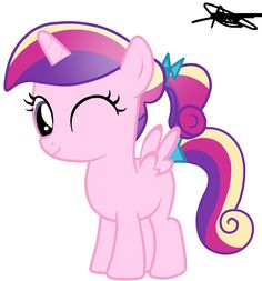 Princess Cadence Filly Version 2 by ~AndreaMelody on deviantART