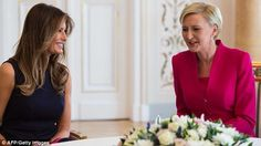 With First Lady Agata-Kornhauser Duda