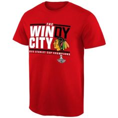 e5f7d7f80 Men s Chicago Blackhawks Red 2015 Stanley Cup Champions Windy City T-Shirt  Stanley Cup Champions