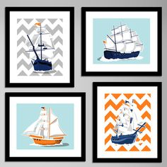 SO awesome! The most modern nautical art I've seen! Cutest boy room EVER!  paperllamas.etsy.com