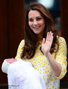 Duchess of Cambridge and Princess Charlotte