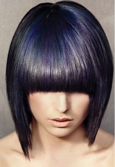 New Bob Haircuts 2019 & Bob Hairstyles 25 Bob Hair Trends for Women - Hairstyles Trends Dark Purple Hair Color, Bold Hair Color, Hair Color For Black Hair, Love Hair, Purple Highlights, Purple Streaks, Brown Hair, Hair Colours 2014, Hair Colors
