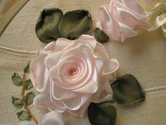ribbon embroidery - roses by zaliana