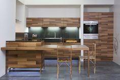 cocina laminado moderno madera listones