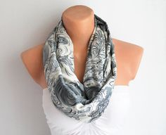 SALE Infinity Scarf Loop Scarf Circle Scarf Cotton by fairstore, $9.90