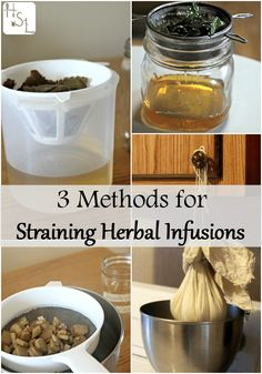 Natural Beauty Remedies Get all those drinks, oils, and medicines ready to use with these 3 methods for straining herbal infusions. - Get all those drinks, oils, and medicines ready to use with these 3 methods for straining herbal infusions. Cold Home Remedies, Natural Health Remedies, Herbal Remedies, Healing Herbs, Medicinal Herbs, Natural Healing, Natural Herbs, Natural Life, Natural Living