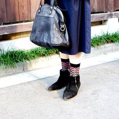 #socks by #ayame and #leather #bag and #shoes by #malababa
