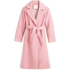 Kate Spade Maddison Ave Collection Braxton Coat ❤ liked on Polyvore featuring outerwear, coats, pink coat, kate spade and kate spade coat