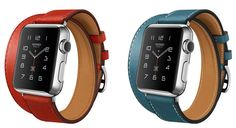Apple Watch Hermes with colored leather bands