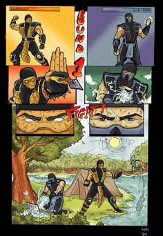 Mortal Kombat funny comic by ~GreenBBB on deviantART Art Mortal Kombat, Mortal Kombat Comics, Mortal Kombat Memes, Gamer Humor, Gaming Memes, Video Games Funny, Funny Games, Anime Meme, Geeks