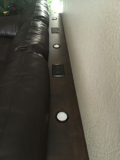 Sofa table with dimmable lights and two electrical outlets hand made!