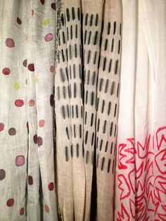 Handpainted foulards