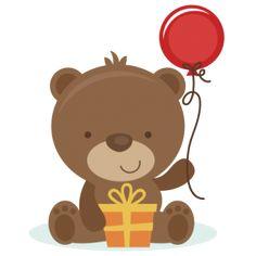 Daily Freebie 2-17-14: Miss Kate Cuttables--Birthday Bear SVG cut file birthday svg files birthday svg cutting files free svg cuts