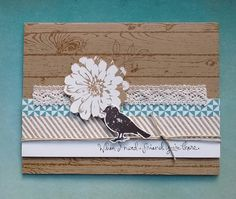 Choose Happiness, Gorgeous Grunge, Hardwood, Friendship Card, Just Because Card, Thinking of You Card, Handmade Card, Stampin' Up